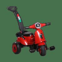 سه چرخه طرح موتور وسپا با دسته نگهدارنده والدین